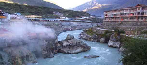The hot water spring at Suryakund, Himachal Pradesh.