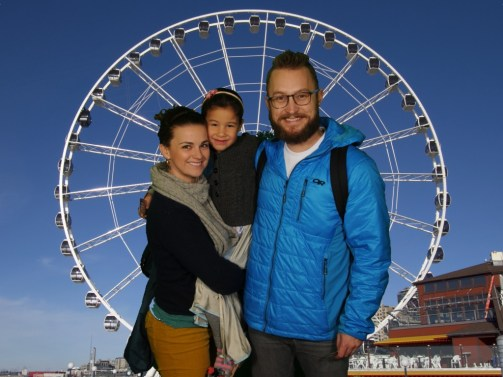 visiting Seattle waterfront for Mace's birthday