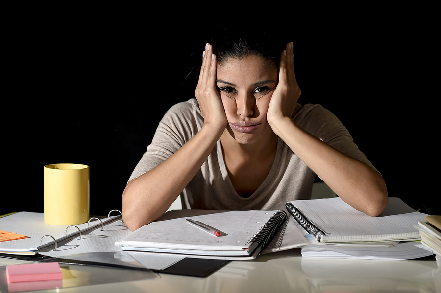 woman feeling overwhelmed and stuck
