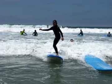 San Diego Encinitas surf lesson