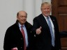 U.S. President-elect Donald Trump and greets Wilbur Ross for their meeting at Trump National Golf Club in Bedminster, New Jersey, U.S., November 20, 2016. REUTERS/Mike Segar