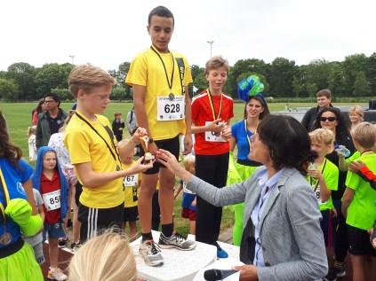 Winnaars 2,5km jongens