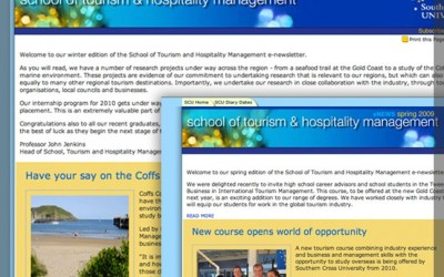 SCU School of Tourism and Hospitality Management eNews