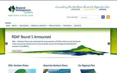 Website Redesign: Regional Development Australia – Northern Rivers (RDA-NR)