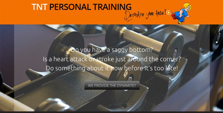 TNT Personal Training: the quickest (WordPress) website I've ever done!
