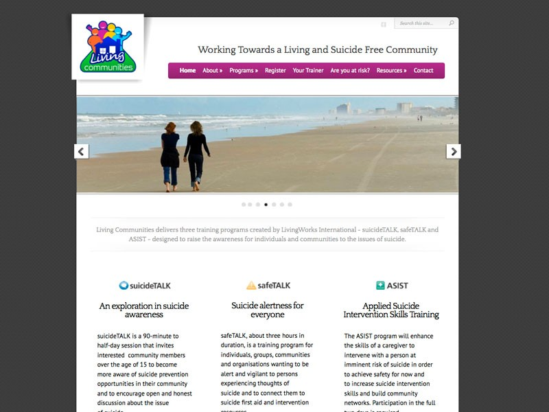 Living Communities website – a refresh and transfer to WordPress