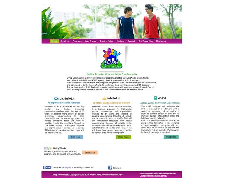 Living Communities website 2013