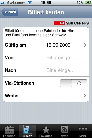 SBB iPhone Ticket Fail