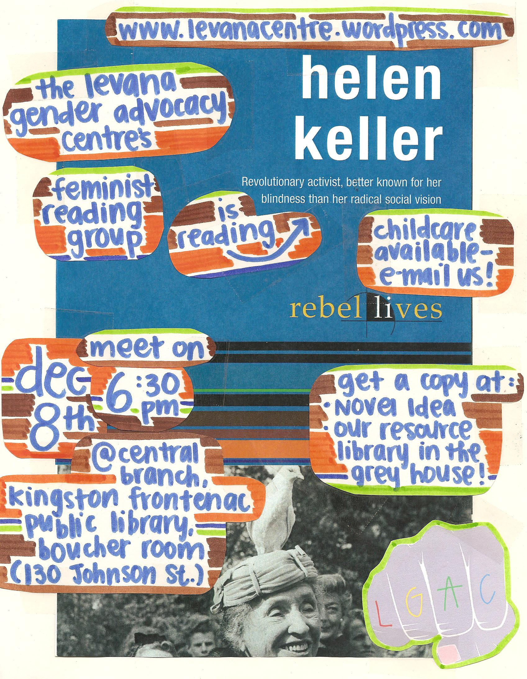 Levana S Feminist Reading Group Reads Helen Keller Rebel