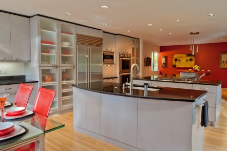 Ubo-Contemporary with red flair