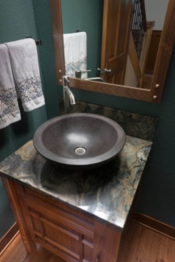 Craftsman bathroom vanity