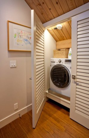 Retro laundry room concept