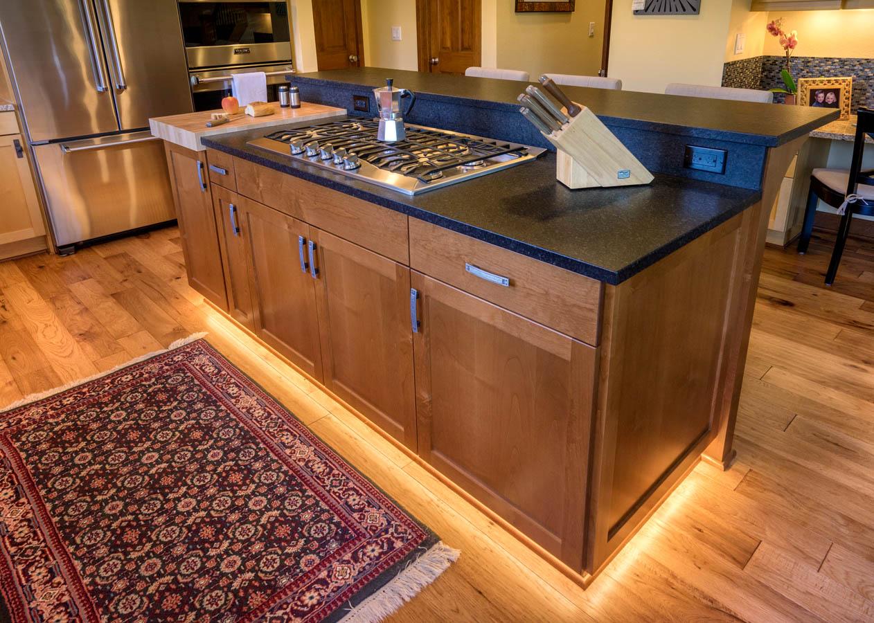 Craftsman kitchen range island