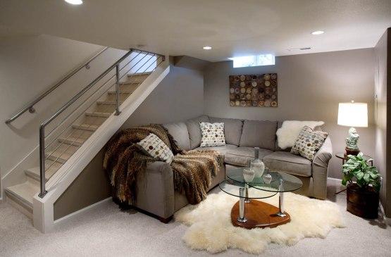 Retro-Traditional basement den