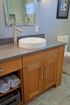 Contemporary-Asian-Flair bathroom idea in Portland