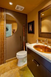 Contemporary-Asian-Flair guest bathroom
