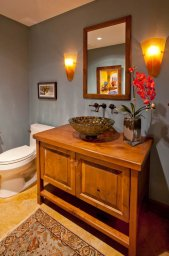 Enhanced-Italian-Traditional guest bathroom
