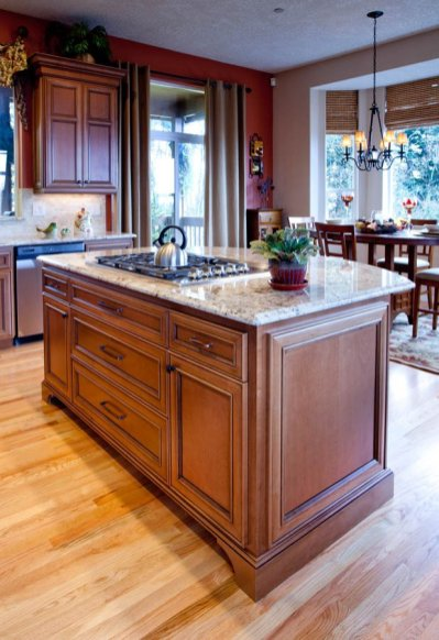 Traditional island kitchen