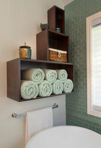 Modern-Transitional towel rack