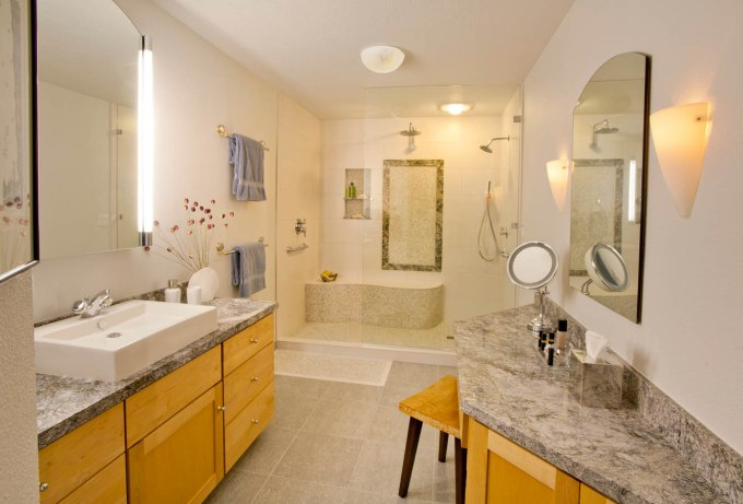 Contemporary total master bathroom remodel