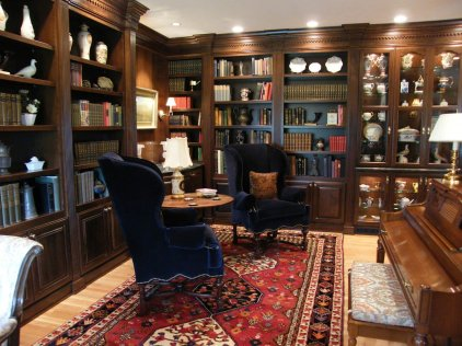 traditional library interior redesign