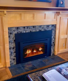 One of our fireplace frame design ideas featured in a craftsman style home.