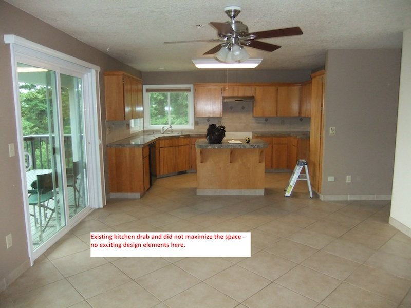 Interior kitchen remodel in the Cascade Foothills