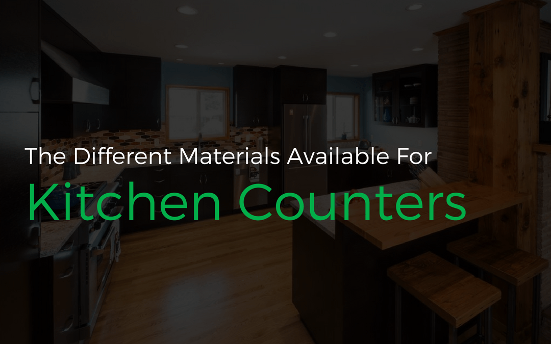 The Different Materials Available For Kitchen Counters