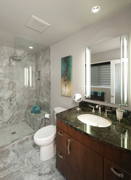 Porcelain bathroom remodeling