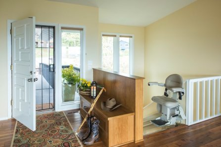Aging in Place Remodel with Stairlift and Front Door