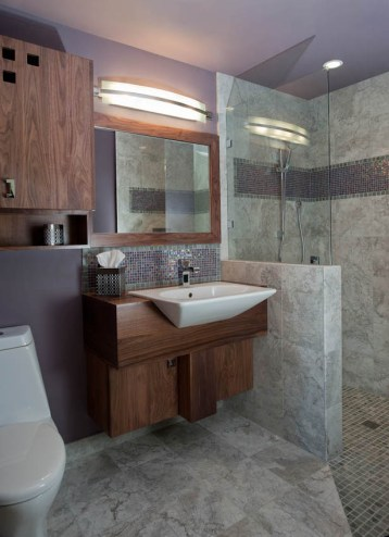 Contemporary Walk In Shower for Aging in Place Remodel