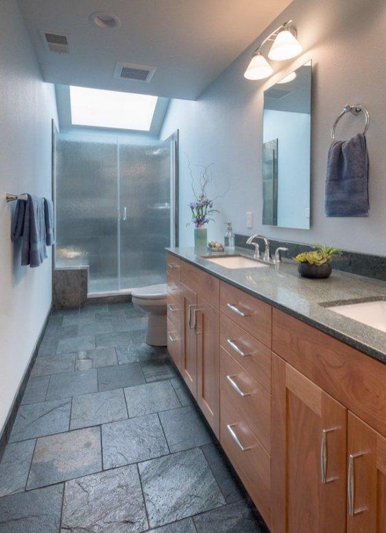 portland bathroom remodel double vanity