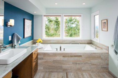 portland reclaimed wood bathroom ada approved