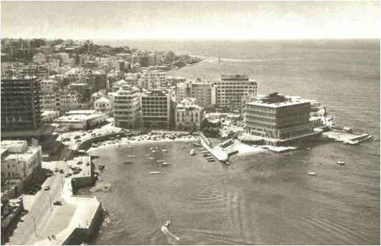 Phoenicia Hotel under construction 1961