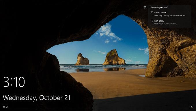 Как сохранить изображения с экрана блокировки системы Windows 10