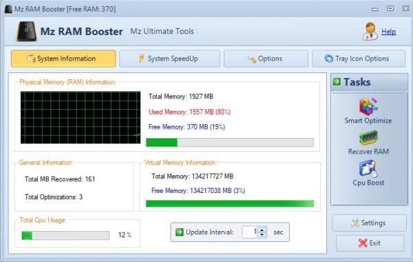 Оптимизируем оперативную память. Mz RAM Booster для Windows 10
