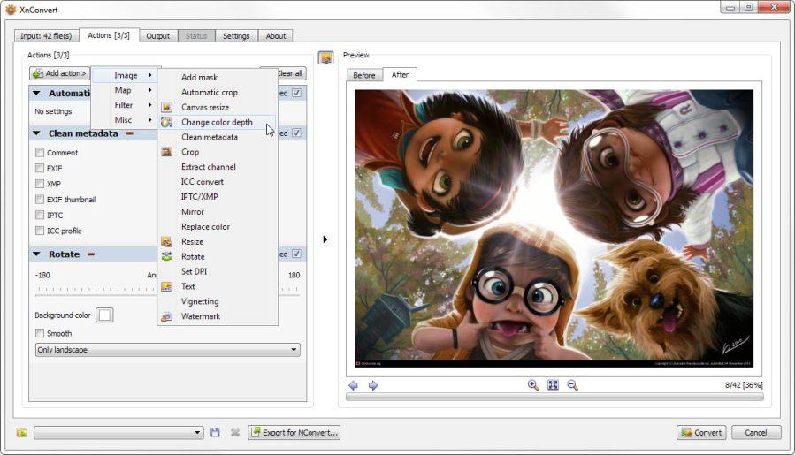 XnConvert — пакетный конвертер изображений для Windows 10