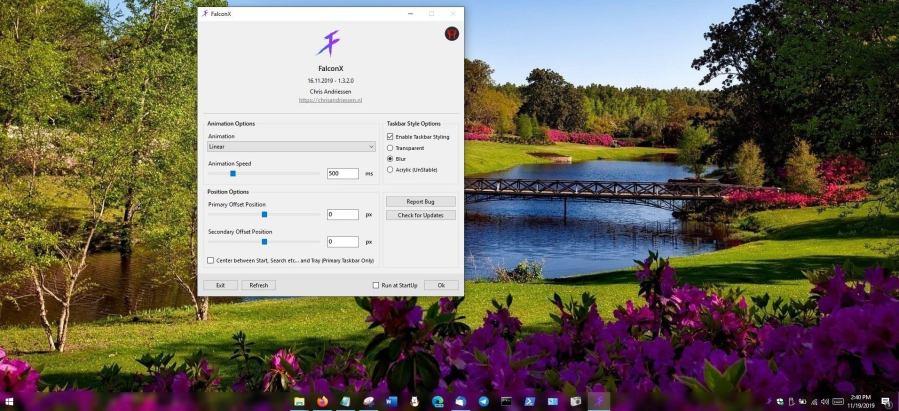 Как в Windows 10 поместить значки панели задач по центру (как в macOS)