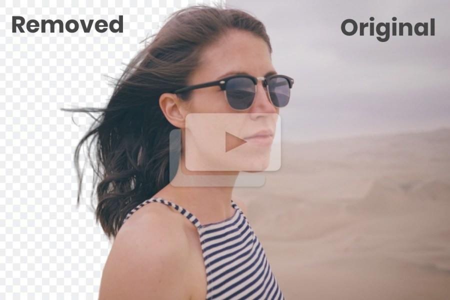 Как бесплатно удалять фон на видео