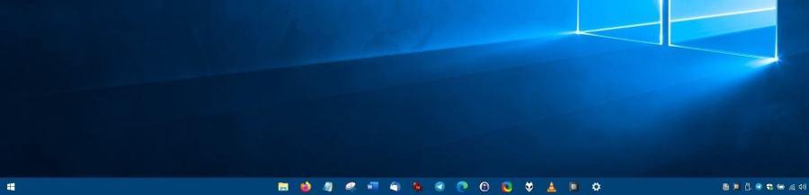 Как в Windows 10 поместить значки панели задач в центре (как в macOS)