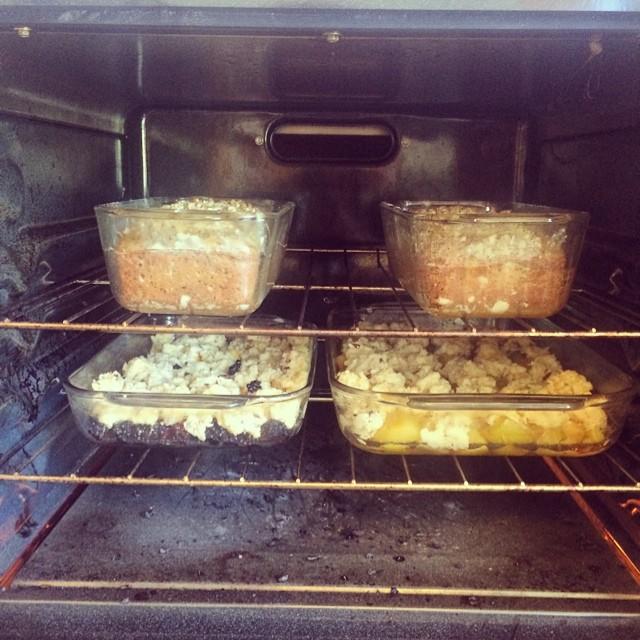 Day off 2. #zucchinibread , #plum-cobbler #blackberry+mango-cobbler