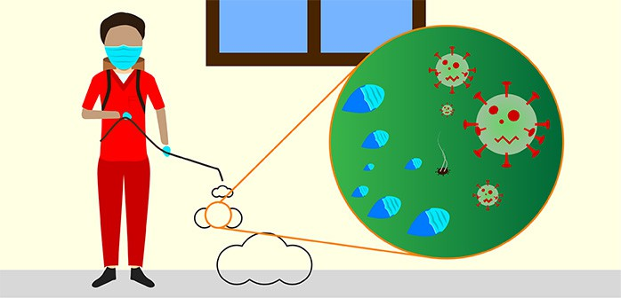 Illustration about hoe HomePro is offering hospital grade disinfectant services to disinfect businesses and households