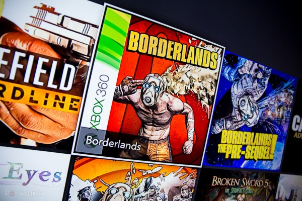 360 Games appear as any other game would in your library... properly labeled as a 360 game, of course.