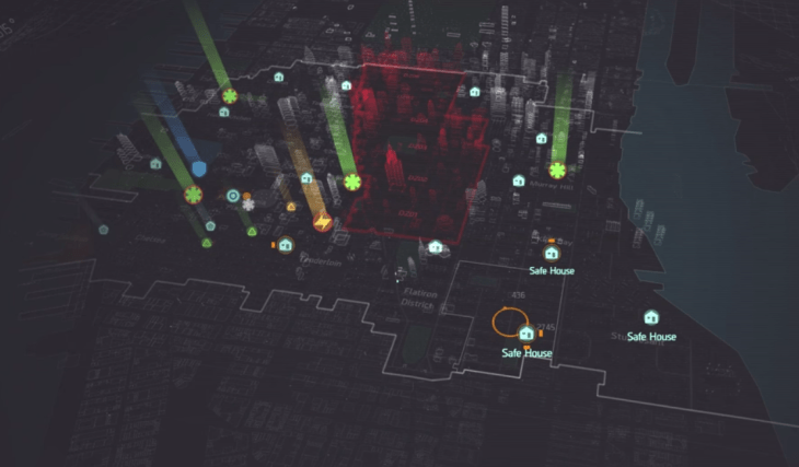The Game's Map is a sizeable chunk of NYC, with the Dark zone taking up about a third of the map.
