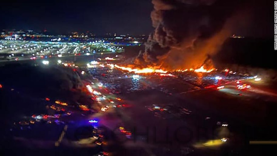 пожар возле аэропорта