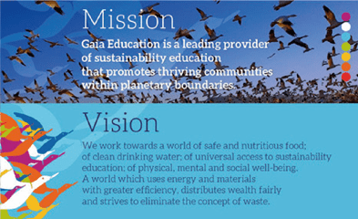 GAia Education - Mission and Vision
