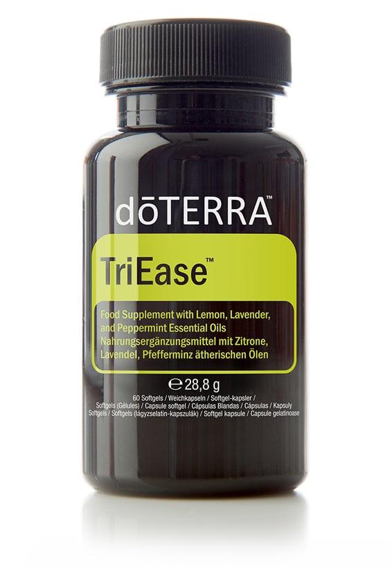 TriEase® Softgels – Voedingssupplement met essentiële oliën uit citroen, lavendel en pepermunt