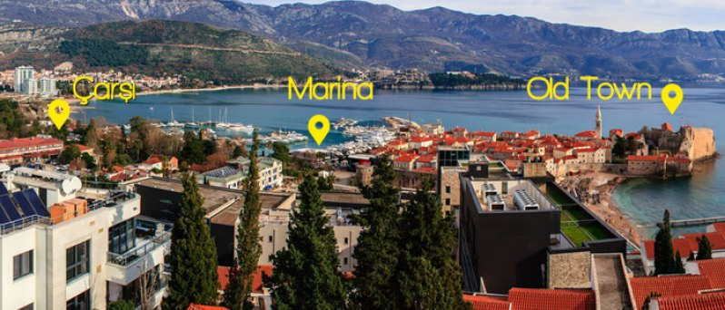 Budva Merkez - Marina - Old Town