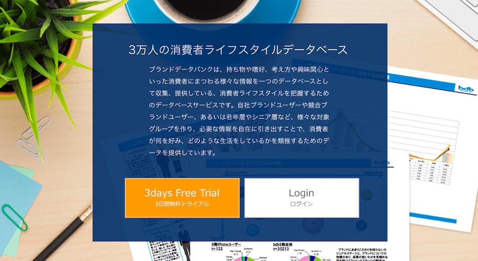 3万人の消費者ライフスタイルデータベース ブランドデータバンク。