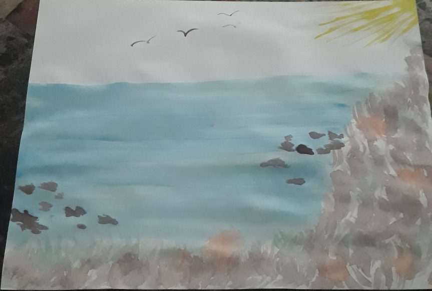 Artwork of the Week: 4 Seagulls and a Sun